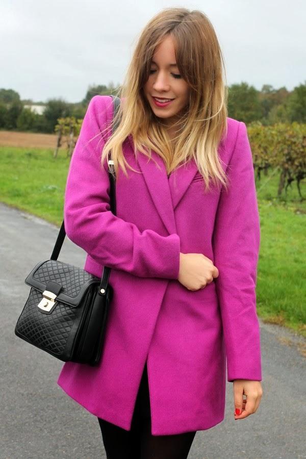 Manteau violet rose DPP