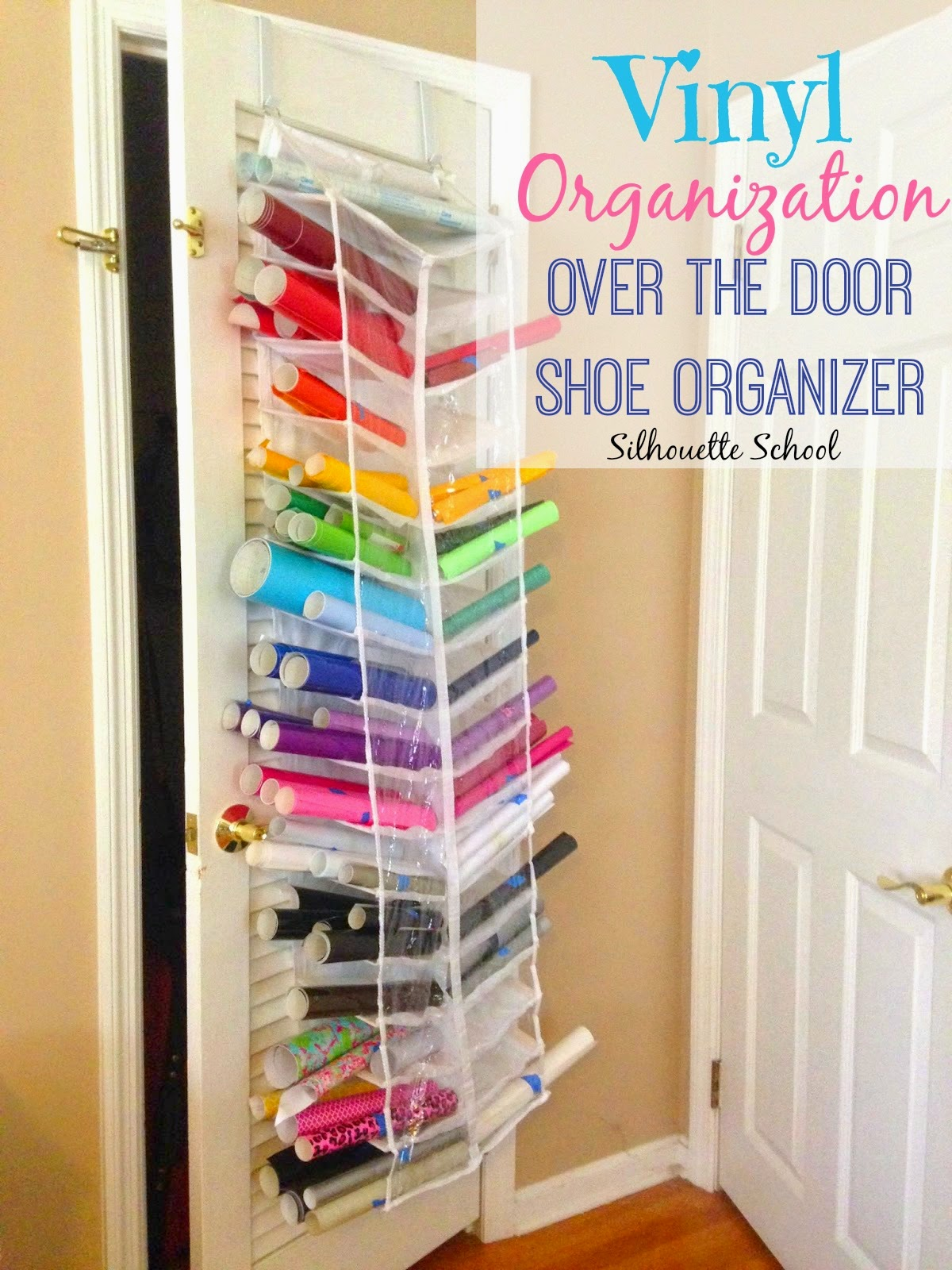 Htv And Vinyl Storage In An Over The Door Shoe Organizer Bigger And Better Silhouette School