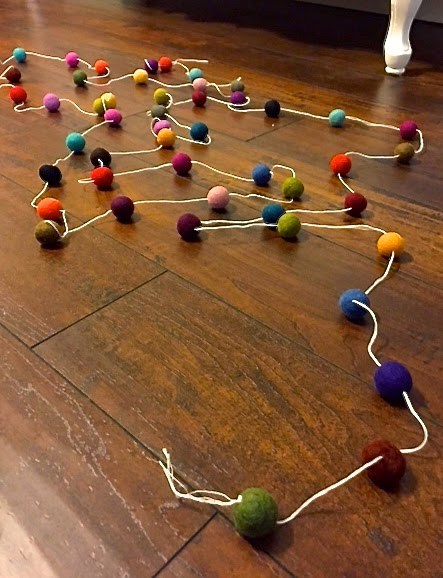how to  make felt ball garland