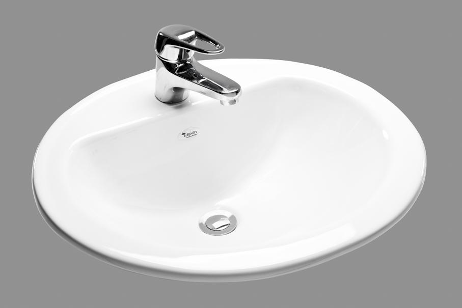 Servidor porcelana sanitaria lavamanos sobreponer oval for Lavamanos empotrados