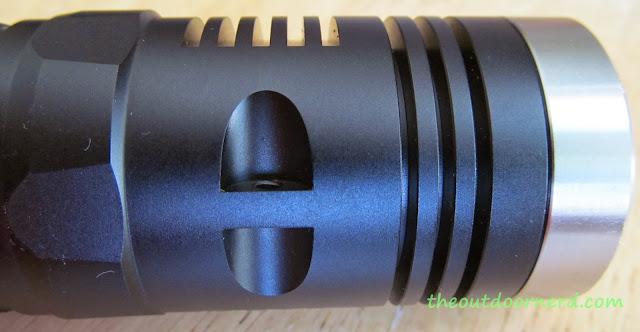 Sunwayman D40A [4xAA Flashlight] - Closeup Of Lanyard Hole