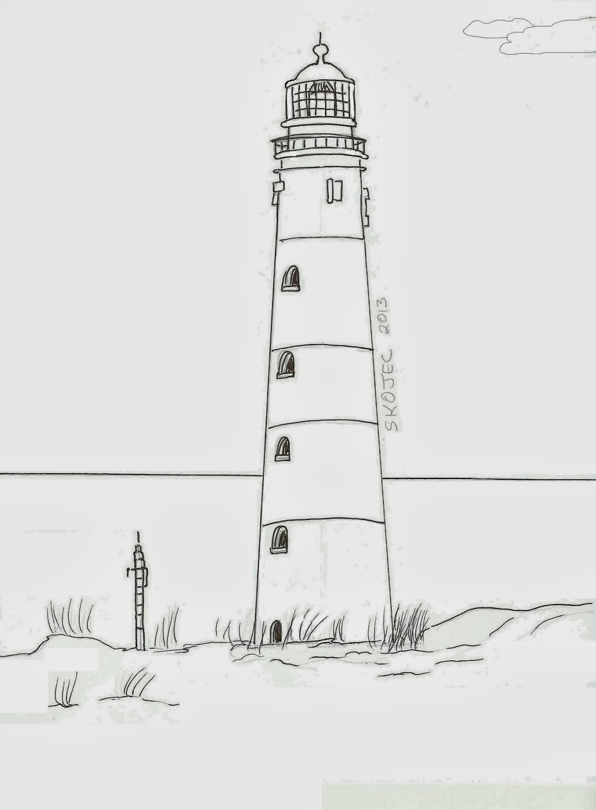 Draw a lighthouse art class ideas draw a lighthouse pronofoot35fo Images