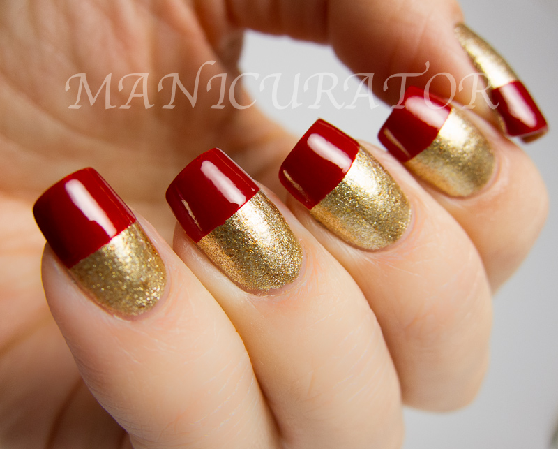 Awesome Red And Gold Nail Design Ornament - Nail Art Ideas ...