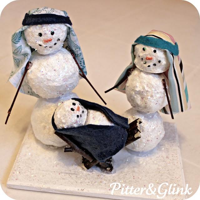 Pitterandglink Snowman Nativity
