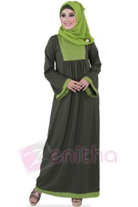 Zenitha Gamis Zn109 - Hijau (Toko Jilbab dan Busana Muslimah Terbaru)