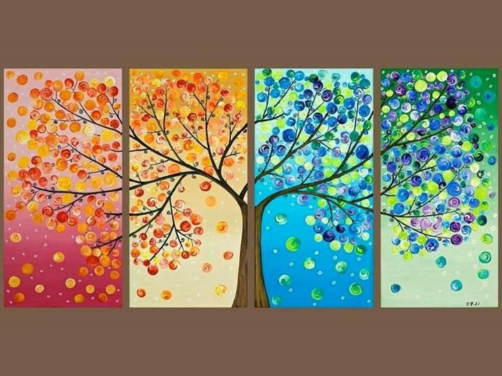 4 Seasons Drawing Images