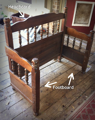 made to love up cycled headboard footboard. Black Bedroom Furniture Sets. Home Design Ideas