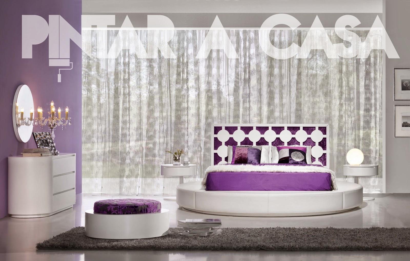 quarto-decoração-interior-lilás-vista-frente