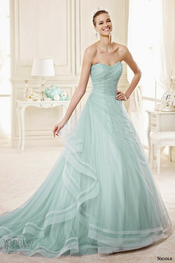 Wedding Dress Color Controversy : Spose bridal style a niab tf strapless color wedding dress
