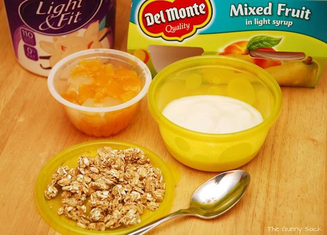 Portable Fruit and Yogurt Parfait #SmartSnack - The Gunny Sack