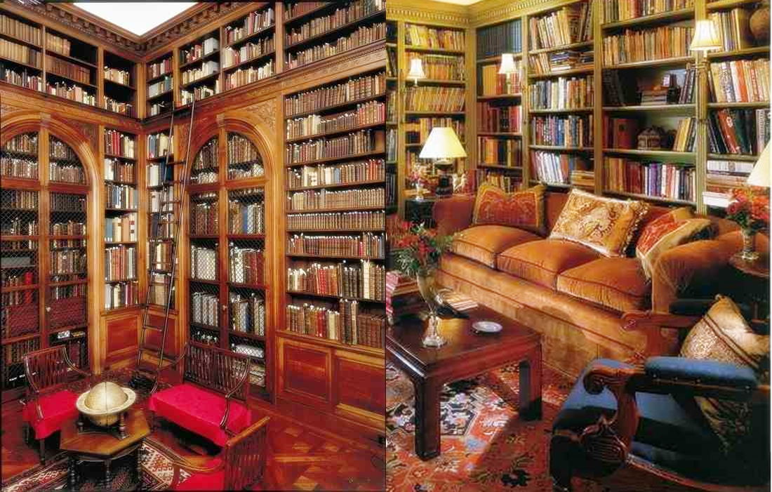 Biblioteka domowa klasyczny styl