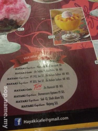 Restoran Hayaki, Danau Kota, Kuala Lumpur