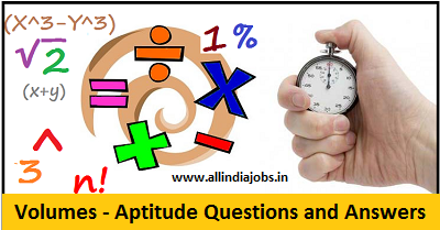Volumes Aptitude Questions and Answers