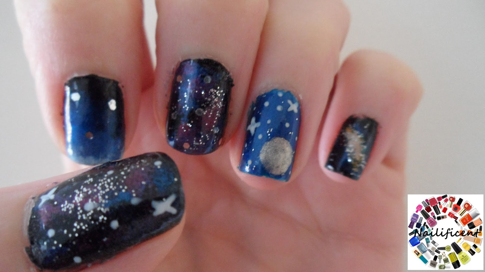 Nailificent: Galaxy Nail art