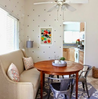 OUR DIY POLKA DOT DINING ROOM