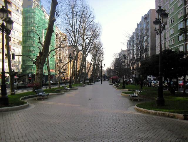Paseo de La Alameda en Santander