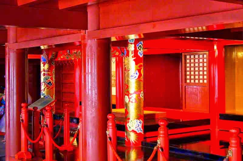 interior of Shuri Castle
