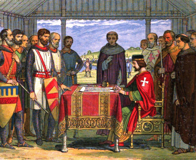 King John, signed, sealed, Magna Carta