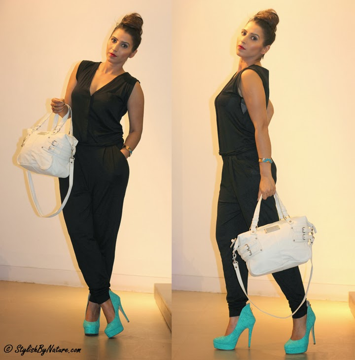 Black Jumpsuit with hollow back