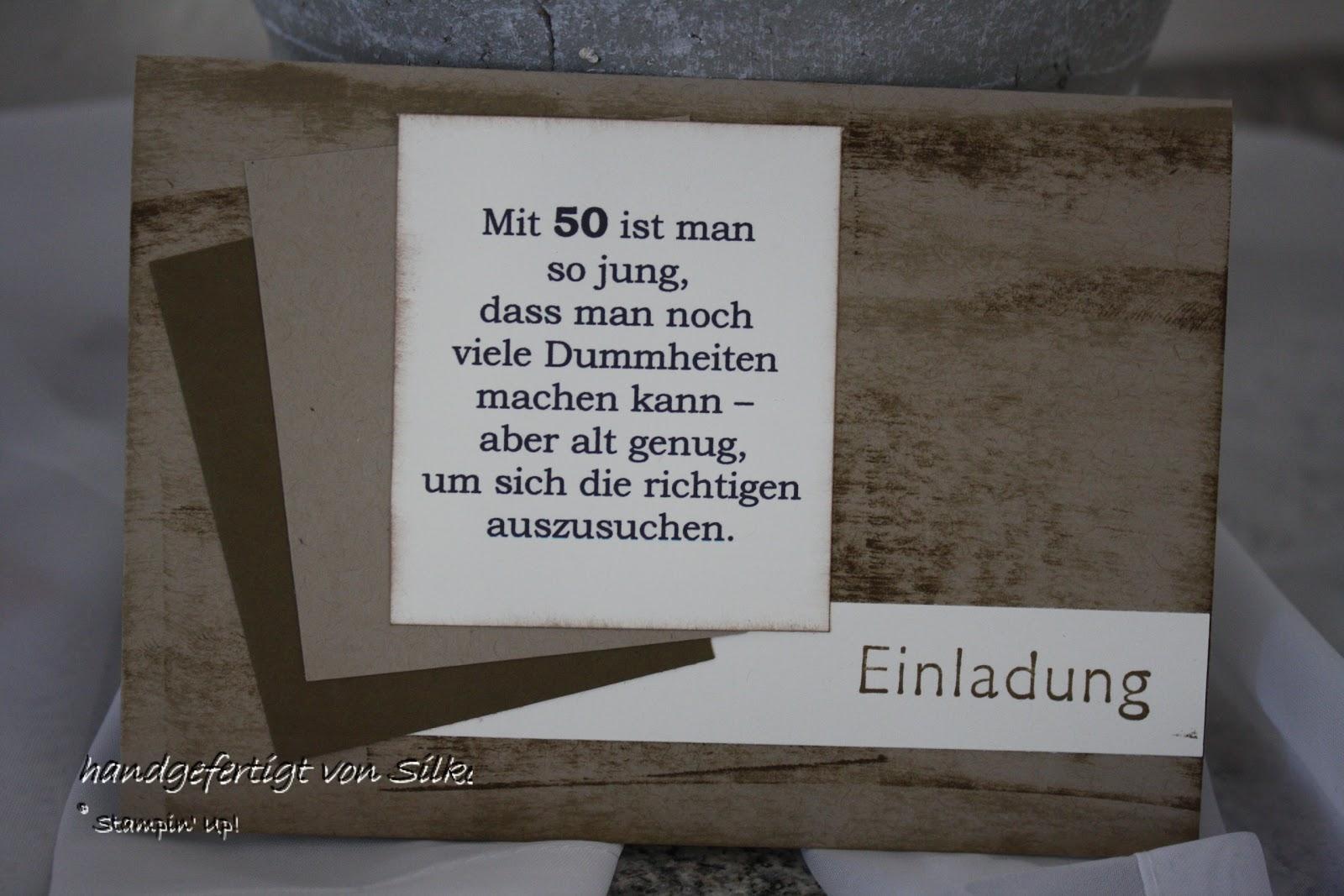 Silkes bunte Stempelkiste: Einladung zum 50.