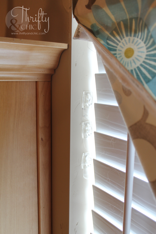 No Sew Faux Roman Shade -that can actually move and drop to the length of the window!