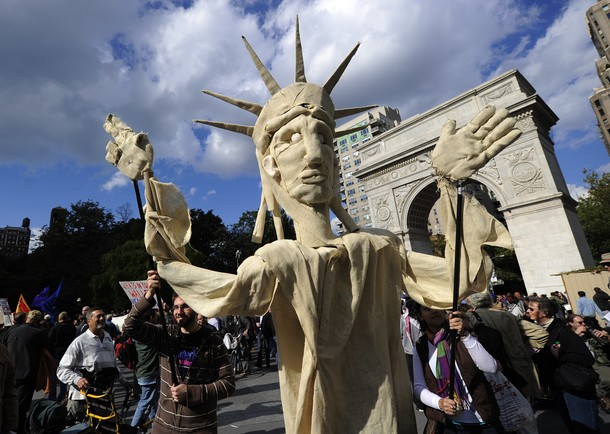 Indignados: NOVA IORQUE TAMBÉM JÁ MARCHA