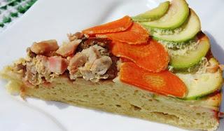 Перевертыш с кабачками,морковью и курицей