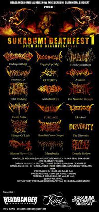 SUKABUMI DEATH FEST#1 - HEADBANGER OFFICIAL HELL SHOW&SUKABUMI METAL SINDIKAT