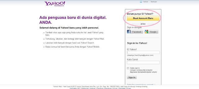 Cara Membuat Email Di Yahoo Cuma Belajar