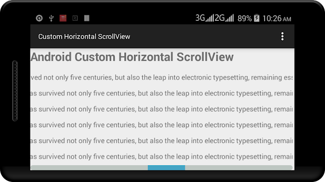 Android Custom Horizontal ScrollView Example