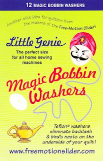 magic genie bobbin washers FMQ quilt