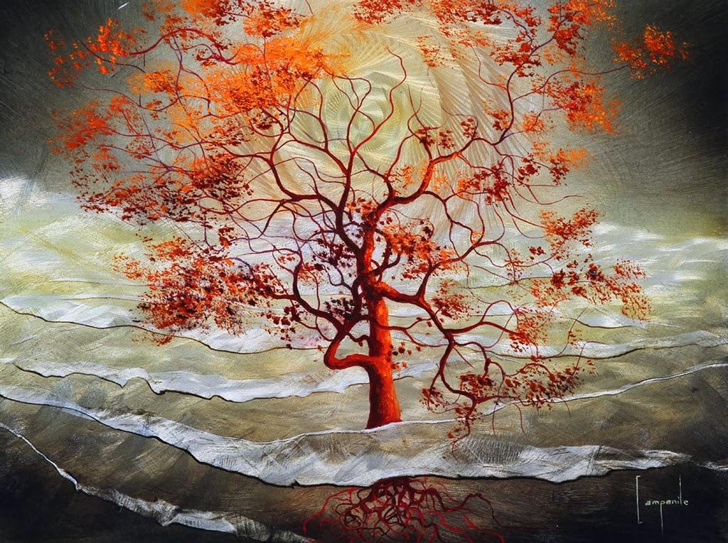 Im genes arte pinturas paisajes modernos surrealistas - Pinturas para metal ...