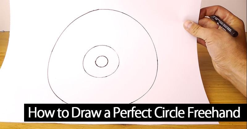 フリーハンドでパーフェクトな円を描く方法がなんだか使えそうな気がする