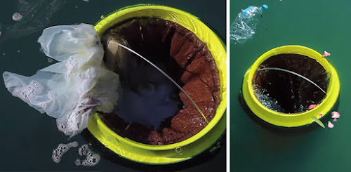 Surfistas criam lixeira flutuante capaz de limpar as águas dos oceanos