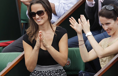 image 4 for pippa middleton at the french open gallery 815415790 Pippa Middleton looks ace in daring top at French Open