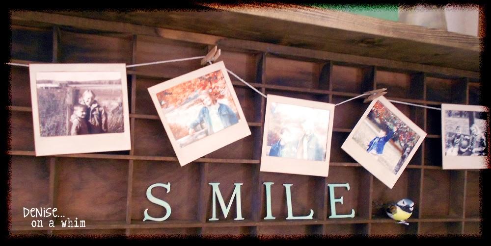 A Darling Vintage-Inspired Polaroid Banner via http://deniseonawhim.blogspot.com