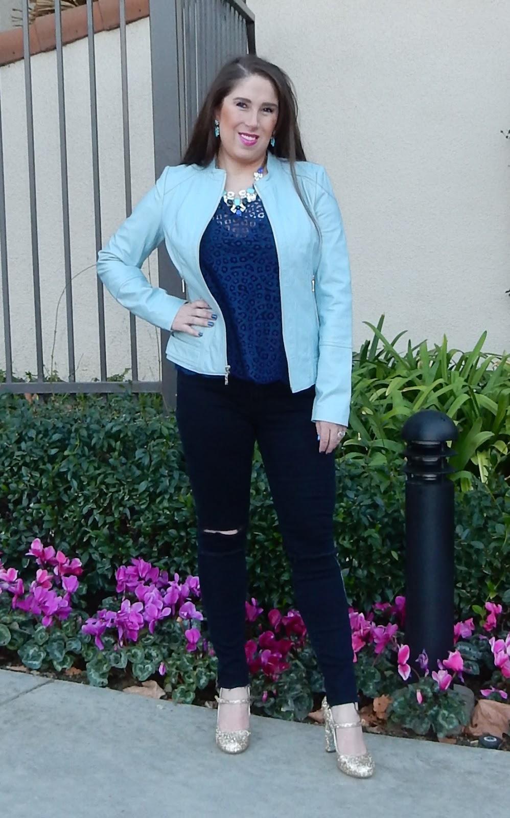 Marisa Stewart High Heeled Brunette Neiman Marcus Leather Jacket J Brand Jeans