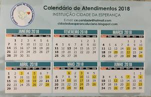 DIAS DE ATENDIMENTO 2018 EM AMARELO