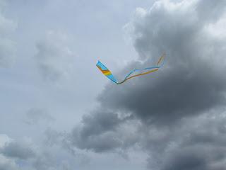 Tirava talmente tanto vento che credevo di volare via insieme all'aquilone