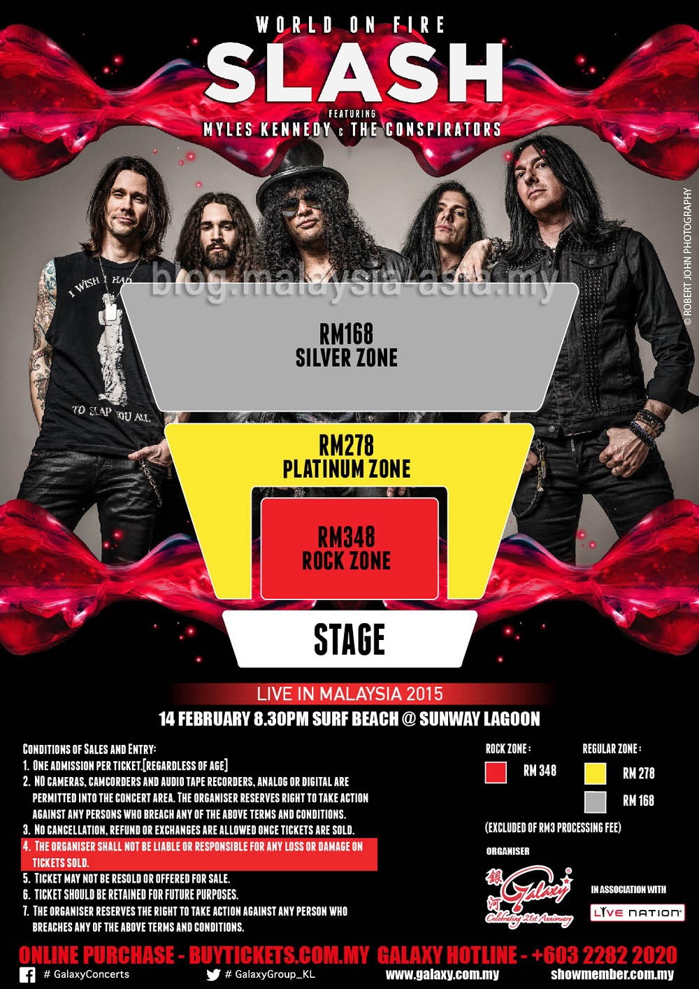 Slash Malaysia 2015 Seating Plan at Sunway Surf Beach