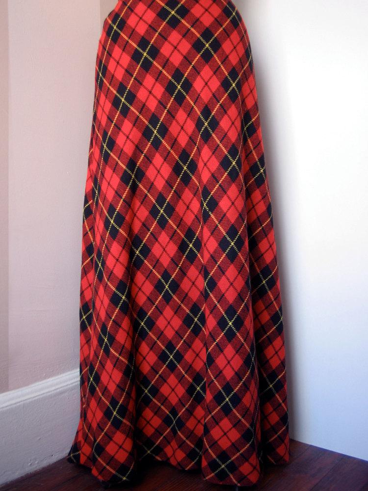 lovetheseventies plaid maxi skirt