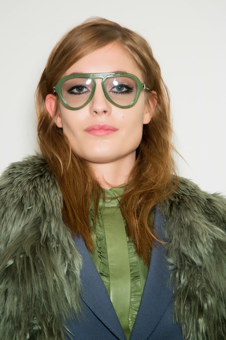 Nadja Bender backstage at Gucci FW14