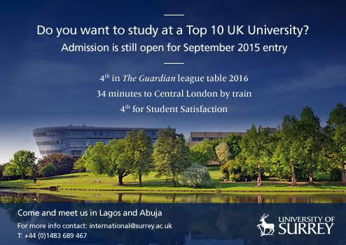 University Of Surrey Visiting Nigeria Welcome To Linda