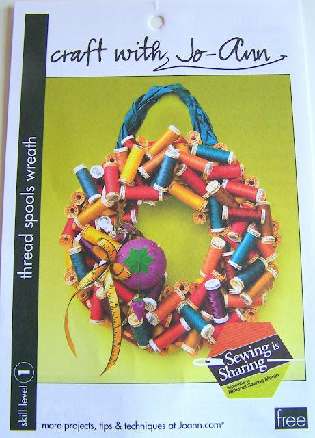 Inspiration – Jo-Ann's Thread Spools Wreath