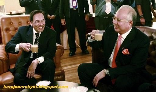 Najib dan Anwar minum tea