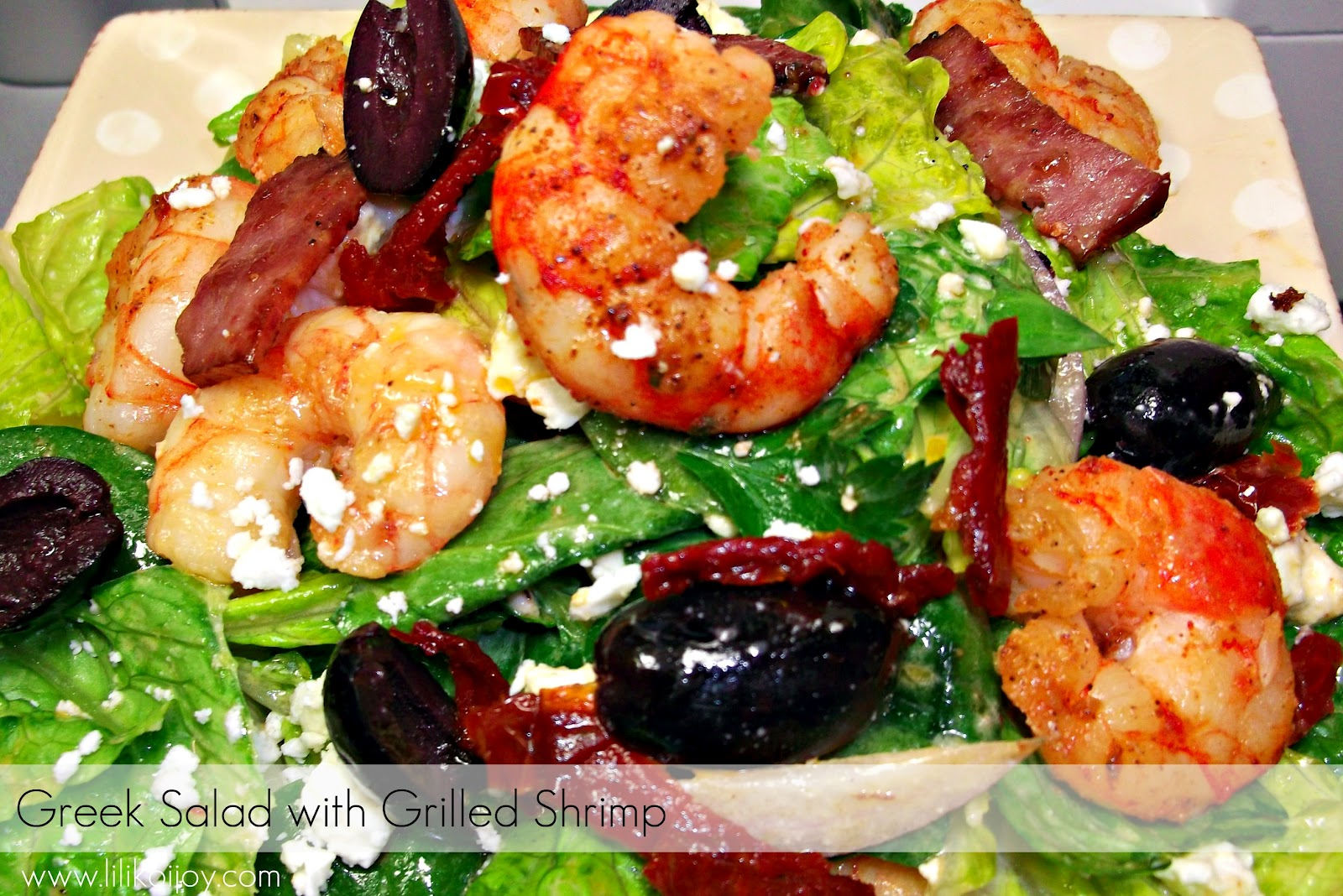 ... Joy: A Week of Healthy Dinners, Day 2: Greek Salad with Grilled Shrimp