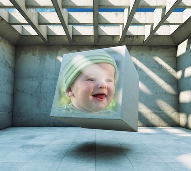 cuadro de foto cubo