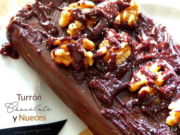Turrón de chocolate con nueces casero
