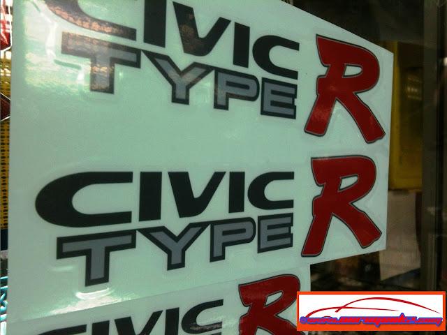 HONDA Side Door Sticker - CIVIC FERIO VR-S TYPE_R, FD