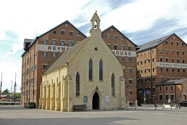 Canvas print for sale of Mariners Chapel in Gloucester Docks